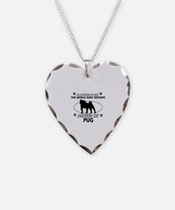 Pug dog funny designs Necklace