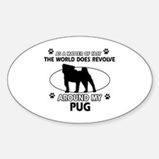 Pug dog funny designs Decal
