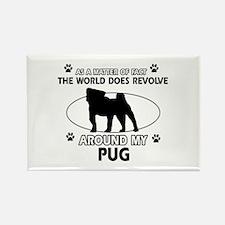 Pug dog funny designs Rectangle Magnet (10 pack)