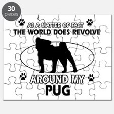 Pug dog funny designs Puzzle