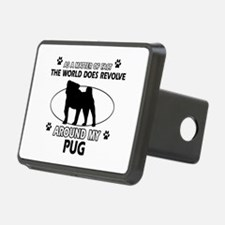 Pug dog funny designs Hitch Cover