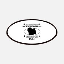 Puli dog funny designs Patches