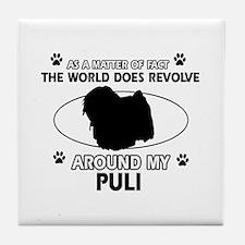 Puli dog funny designs Tile Coaster