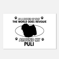 Puli dog funny designs Postcards (Package of 8)