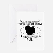 Puli dog funny designs Greeting Card