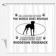Rhodesian Ridgeback dog funny designs Shower Curta