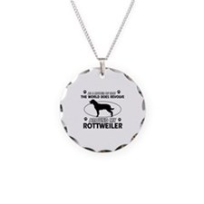 Rottweiler dog funny designs Necklace