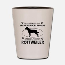 Rottweiler dog funny designs Shot Glass