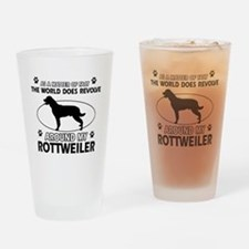 Rottweiler dog funny designs Drinking Glass