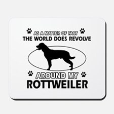 Rottweiler dog funny designs Mousepad