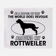 Rottweiler dog funny designs Throw Blanket