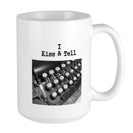 I Kiss & Tell Large Mug
