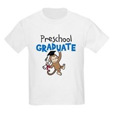 Preschool Graduate - Monkey (Blue) T-Shirt