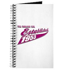 Established in 1953 birthday designs Journal