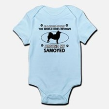 Samoyed dog funny designs Onesie