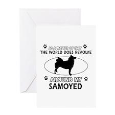 Samoyed dog funny designs Greeting Card