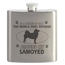 Samoyed dog funny designs Flask