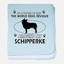 Schipperke dog funny designs baby blanket