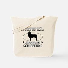 Schipperke dog funny designs Tote Bag