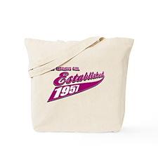 Established in 1957 birthday designs Tote Bag