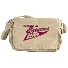 Established in 1959 birthday designs Messenger Bag