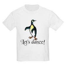 """""""Let's Dance!"""" Penguin Kids T-Shirt"""