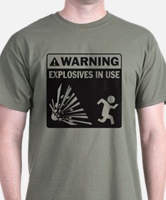 Warning: Explosives Black T-Shirt