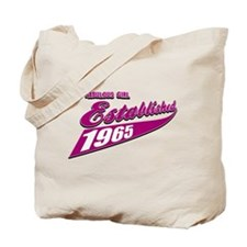 Established in 1965 birthday designs Tote Bag