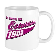 Established in 1965 birthday designs Mug