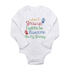 Awesome Like My Grampy Long Sleeve Infant Bodysuit