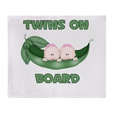 TWINS ON BOARD GIRLS Throw Blanket