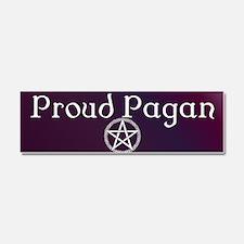 Proud Pagan with pentacle Car Magnet 10 x 3