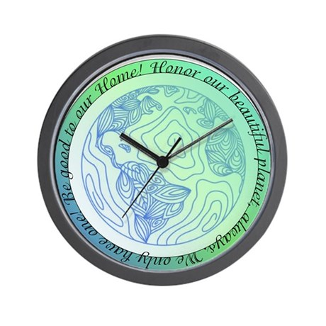 Be good to our Home! Wall Clock