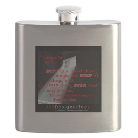 Shawshank Hope Red Flask