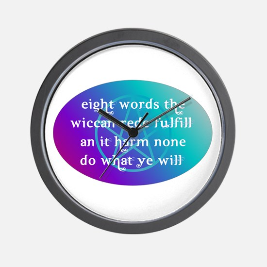 wiccan rede.png Wall Clock