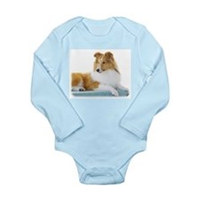 Shetland Sheepdog AF113D-030 Long Sleeve Infant Bo