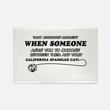 California Spangled cat gifts Rectangle Magnet