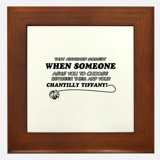 Chantilly Tiffany cat gifts Framed Tile