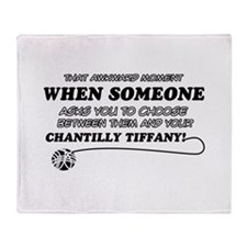 Chantilly Tiffany cat gifts Throw Blanket