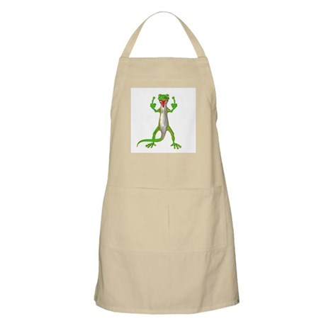 Gecko Lizard Flipping Off BBQ Apron