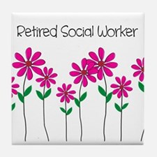 Retired Social Worker Tile Coaster