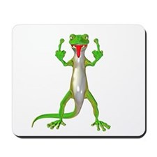 Gecko Lizard Flipping Off Mousepad