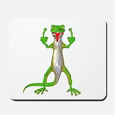 Gecko Lizard Flipping Off Mousepad