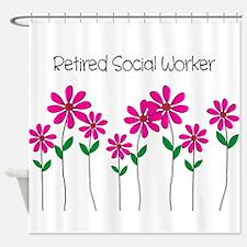 Retired Social Worker Shower Curtain