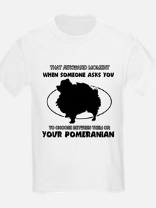 Pomeranian dog funny designs T-Shirt