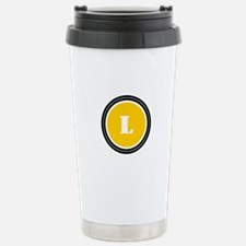 Yellow Stainless Steel Travel Mug