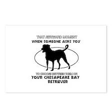 Chesapeake Bay Retriever dog funny designs Postcar
