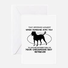 Chesapeake Bay Retriever dog funny designs Greetin