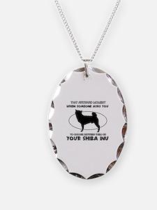 Shiba Inu dog funny designs Necklace