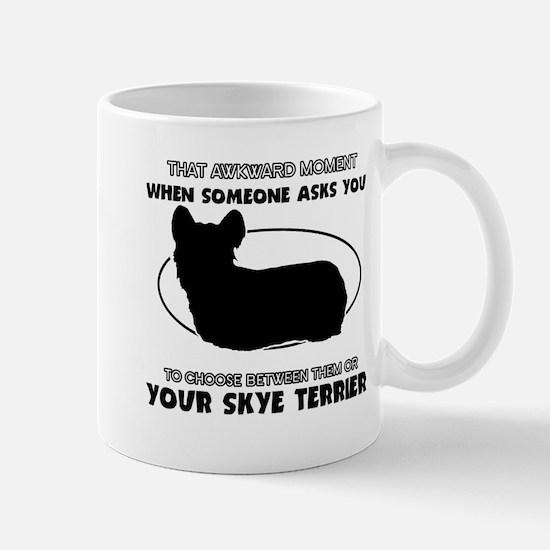 Skye Terrier dog funny designs Mug